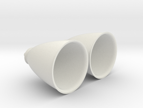 1/62 Space Shuttle OMS Engines (2) in White Natural Versatile Plastic