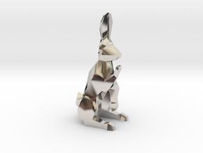 Ferz-Rider (Bishop) - [1,1] White Warren in Rhodium Plated Brass