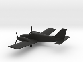 Piper PA-34-200T Seneca II in Black Natural Versatile Plastic: 1:108