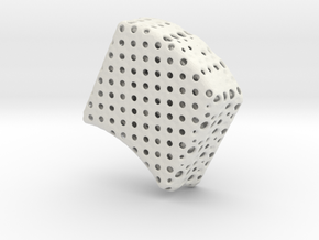Truncated Icosahedron Sphere (3 copies needed) in White Natural Versatile Plastic