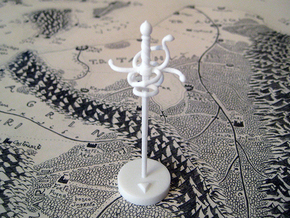 Role Playing Counter: Rapier in White Processed Versatile Plastic