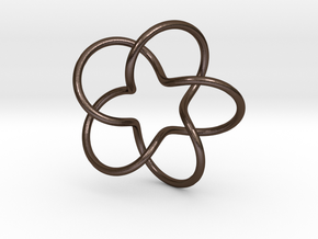 Torus knot- 5 lobes in Polished Bronze Steel