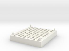 RotoGene® Strip Tube Storage Block in White Natural Versatile Plastic