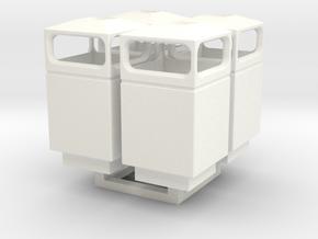 1/35 Trash Can set #1 MSP35-036 in White Processed Versatile Plastic