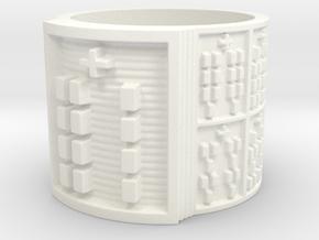 OGBEYEKUN Ring Size 11-13 in White Processed Versatile Plastic: 13 / 69