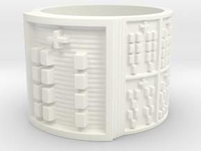 OGBEYEKUN Ring Size 14 in White Processed Versatile Plastic