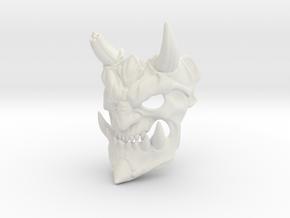 Demon mask in White Strong & Flexible