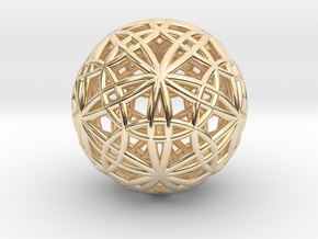 """IcosaDodecasphere 1.7"""" in 14K Yellow Gold"""