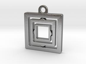 Rotating keychain in Natural Silver (Interlocking Parts)