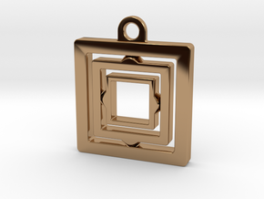 Rotating keychain in Polished Brass (Interlocking Parts)