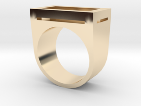 Yin Ring in 14k Gold Plated Brass: 4.5 / 47.75