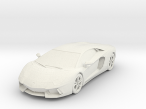 Printle Lambo Aventador in White Natural Versatile Plastic