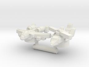 Alpha Bravo & Powerglide, Broadside Scale in White Natural Versatile Plastic