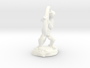 Kobold Archer Crouching  in White Strong & Flexible Polished
