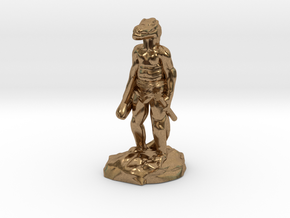 Kobold Archer, Standing Relaxed With Shortbow in Natural Brass