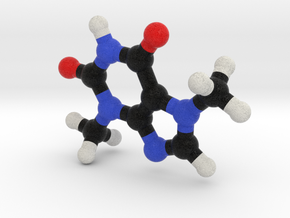 TheoBromine Chocolate Molecule Model. 3 Sizes. in Full Color Sandstone: 1:10