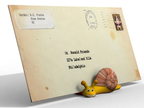 SnailMailHolder in Full Color Sandstone