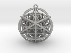 Planetary Merkaba w/ nested FOL 64 Tetrahedron in Aluminum