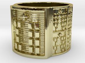 OYEKUNPITI Ring Size 13.5 in 18k Gold Plated Brass