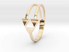 Ring of Triforce in 14k Gold Plated Brass: 8.75 / 58.375