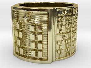 OYEKUNPAKIOSHE Ring Size 13.5 in 18k Gold Plated