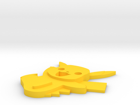 Pikachu  in Yellow Processed Versatile Plastic