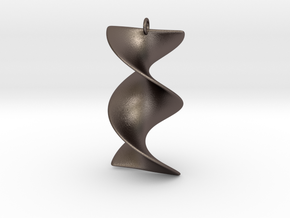 Elegant Z-DNA in Polished Bronzed Silver Steel