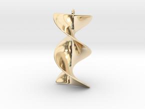 Elegant Z-DNA in 14K Yellow Gold