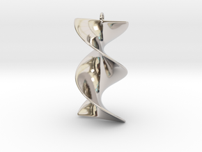 Elegant Z-DNA in Rhodium Plated Brass