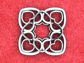 Heart Motif Pendant in Polished Silver