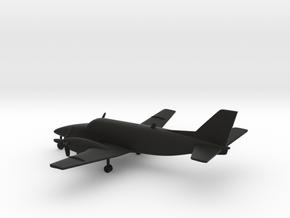 Beechcraft Model 99 Airliner in Black Natural Versatile Plastic: 1:200