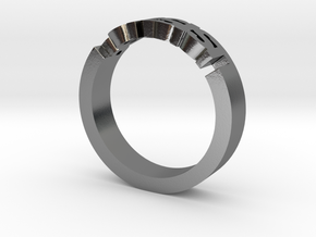 Persist Ring in 14k Gold Plated  in Polished Silver: 5 / 49