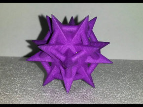 Dodecaspikes in Purple Processed Versatile Plastic