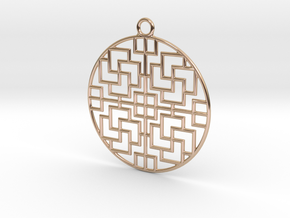Pendant Chinese Motif 2 in 14k Rose Gold Plated