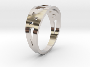 Mother's Ring in Rhodium Plated Brass: 4.5 / 47.75