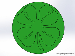 Four Leaf Clover Wax Seal in Stainless Steel