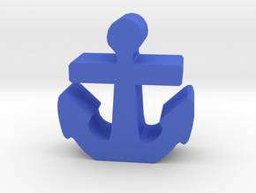 Game Piece, Anchor, Standing in Blue Strong & Flexible Polished