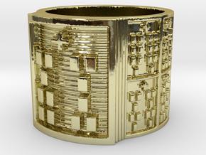 IWORIBOKA Ring Size 11-13 in 18k Gold Plated Brass: 12 / 66.5