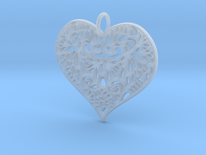 Beautiful Romantic Lace Heart Pendant Charm in Smooth Fine Detail Plastic