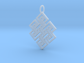 Endless Knot Religious Pendant Charm in Smooth Fine Detail Plastic