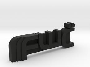 Future War Cult Personal Emblem in Black Natural Versatile Plastic