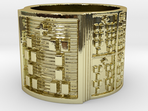 IWORIBOSHE Ring Size 13.5 in 18k Gold Plated