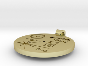Golden Record Pendant in 18k Gold Plated Brass