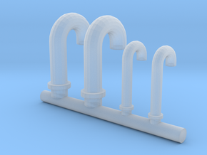 1/96 DKM Vent Tubes Set in Smooth Fine Detail Plastic
