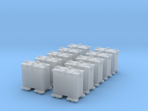 1/72 Scale 20mm Oerlikon Ready Use Lockers (10) in Smooth Fine Detail Plastic