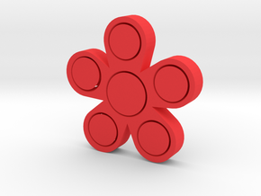 Fidget Flower in Red Processed Versatile Plastic
