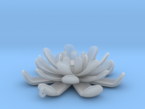Water Lily Pendant in Smooth Fine Detail Plastic