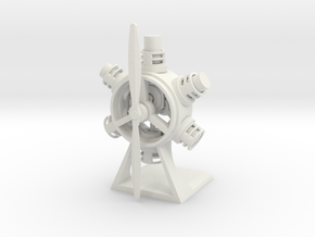 Radial Engine in White Natural Versatile Plastic