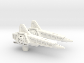Sonic Boom Rifles(pistols?) for TR Fastlane in White Strong & Flexible Polished
