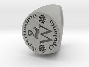 Custom Signet Ring 30 Size 7.5 in Metallic Plastic